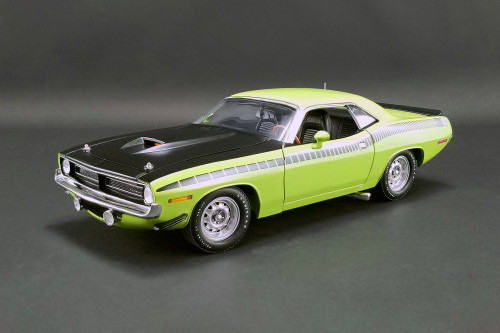 1970 Plymouth Barracuda AAR Hard Top, Sublime Green - Acme A1806113 - 1/18 scale Diecast Model Toy Car