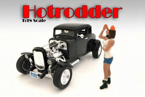 Hotrodders Nancy Figurine, American Diorama 24008 - 1/18 Scale Hobby Accessory