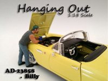 Hanging Out Billy Figure, Gray - American Diorama Figurine 23858 - 1/18 scale