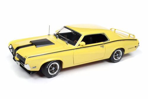 1970 Mercury Cougar Eliminator Hard Top, Yellow - Auto World AMM1155 - 1/18 scale Diecast Model Toy Car
