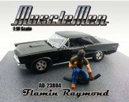 Flamin Raymond Figure, Green - American Diorama Figurine Musclemen Series I 23804 - 1/18 scale