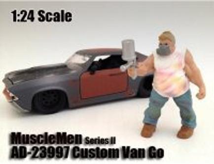 Custom Van Go Figure, White - American Diorama Figurine Musclemen Series II 23997 - 1/24 scale