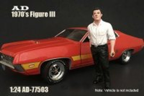 70s Style Figure - III, American Diorama 77503 - 1/24 Scale Accessory for Diecast Cars