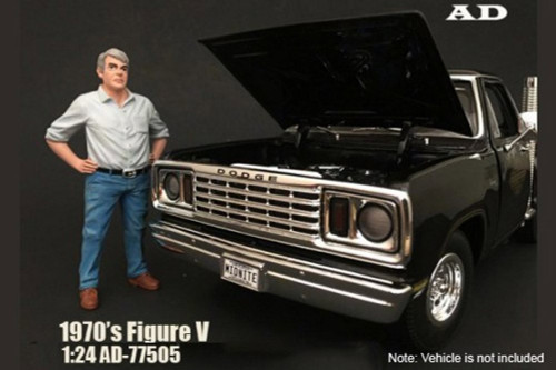 70s Style Figure - V, American Diorama 77505 - 1/24 Scale Accessory for Diecast Cars