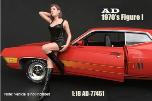 70s Style Figure - I, American Diorama 77451 - 1/18 Scale Accessory for Diecast Cars