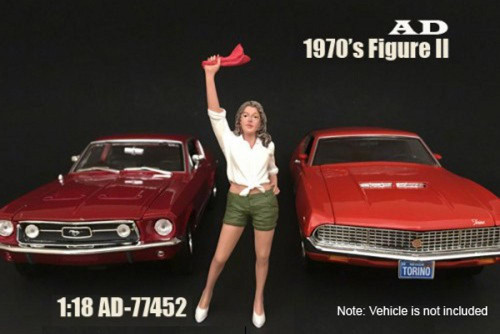 70s Style Figure - II, American Diorama 77452 - 1/18 Scale Accessory for Diecast Cars