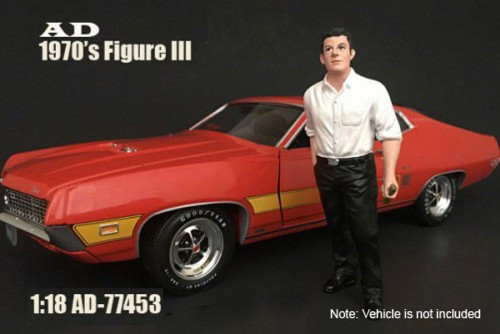 70s Style Figure - III, American Diorama 77453 - 1/18 Scale Accessory for Diecast Cars