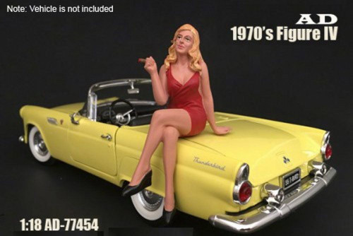 70s Style Figure - IV, American Diorama 77454 - 1/18 Scale Accessory for Diecast Cars