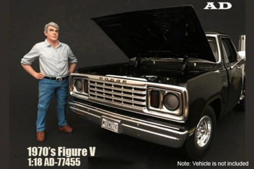 70s Style Figure - V, American Diorama 77455 - 1/18 Scale Accessory for Diecast Cars