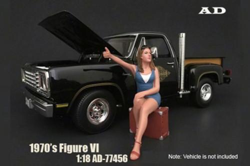 70s Style Figure - VI, American Diorama 77456 - 1/18 Scale Accessory for Diecast Cars