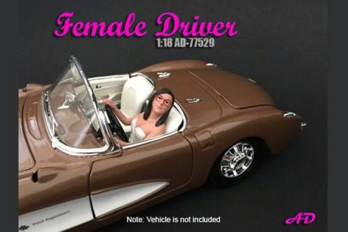 Female Driver, American Diorama 77529 - 1/18 Scale Accessory for Diecast Cars