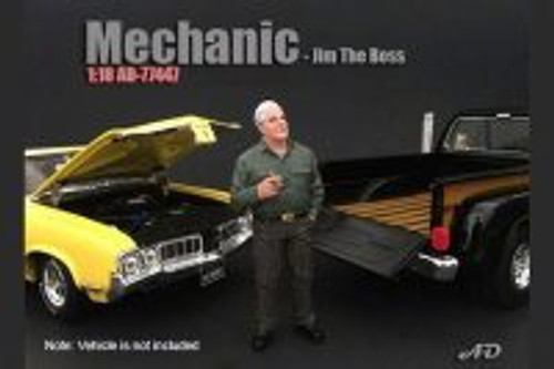 Mechanic Jim The Boss, American Diorama 77447 - 1/18 Scale Accessory for Diecast Cars