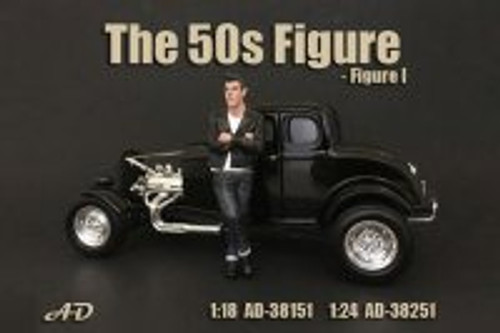 50's Style Figure I, American Diorama 38151 - 1/18 Scale Accessory for Diecast Cars