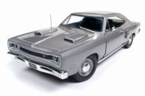 1969 Dodge Coronet R/T Hard Top, Silver - Auto World AMM1141 - 1/18 Scale Diecast Model Toy Car