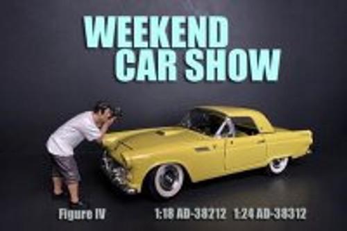 Weekend Car Show Figure IV, Brown and White - American Diorama 38212 - 1/18 scale Figurine - Diorama Accessory