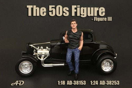 50's Style Figure III, American Diorama 38153 - 1/18 Scale Accessory for Diecast Cars