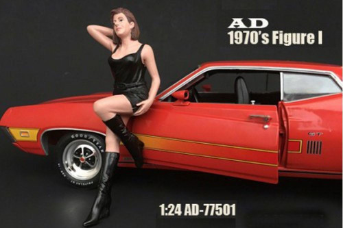 70s Style Figure - I, American Diorama 77501 - 1/24 Scale Accessory for Diecast Cars