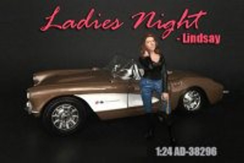 Ladies Night Lindsay Figure, Blue and Black - American Diorama 38296 - 1/24 scale Figurine - Diorama Accessory