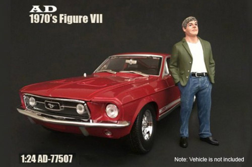 70s Style Figure - VII, American Diorama 77507 - 1/24 Scale Accessory for Diecast Cars