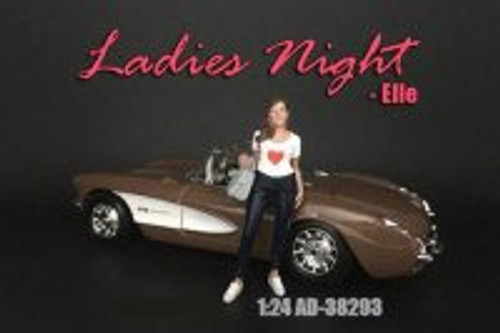 Ladies Night Elle Figure, Black and White - American Diorama 38293 - 1/24 scale Figurine - Diorama Accessory