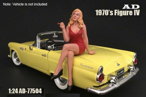 70s Style Figure - IV, American Diorama 77504 - 1/24 Scale Accessory for Diecast Cars