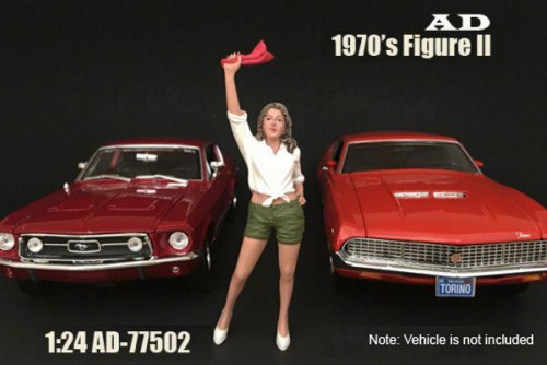 70s Style Figure - II, American Diorama 77502 - 1/24 Scale Accessory for Diecast Cars