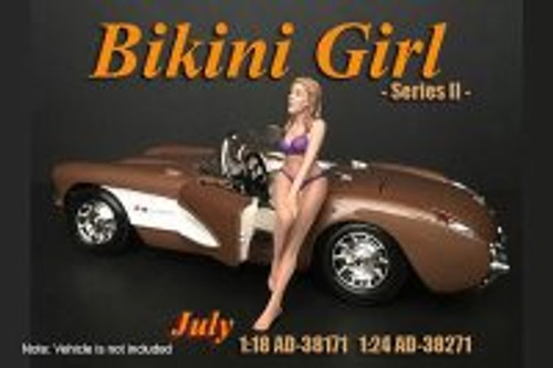 Bikini Girl July, Purple - American Diorama 38271 - 1/24 scale Figurine - Diorama Accessory