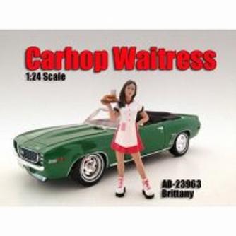 Carhop Waitress Brittany Figurine, American Diorama 23963 -1/24 Scale Hobby Accessory