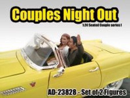 "Seated Couple I ""Couples Night Out""- American Diorama 23828 - 1/24 Scale Diecast Hobby Accessory"
