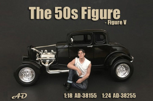 50's Style Figure V, American Diorama 38255 - 1/24 Scale Accessory for Diecast Cars