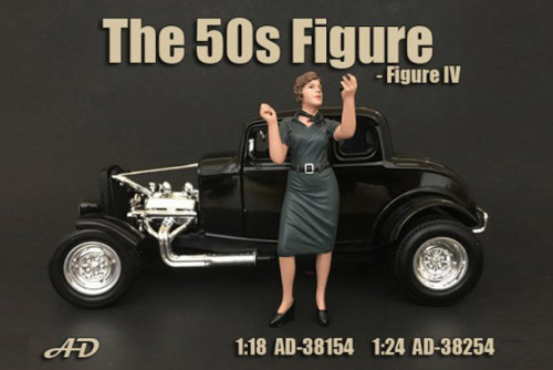 50's Style Figure IV, American Diorama 38254 - 1/24 Scale Accessory for Diecast Cars