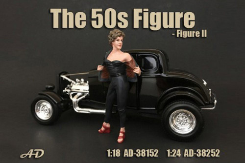 50's Style Figure II, American Diorama 38252 - 1/24 Scale Accessory for Diecast Cars