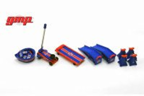 STP Oil Shop Tool Set 2, Blue and Red - GMP 18939 - 1/18 scale Diecast Model Toy Car