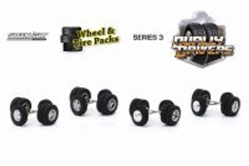 Wheel & Tire Packs Series 3, Dually Drivers - Greenlight 16050A/48 - 1/64 scale Diecast Accessory