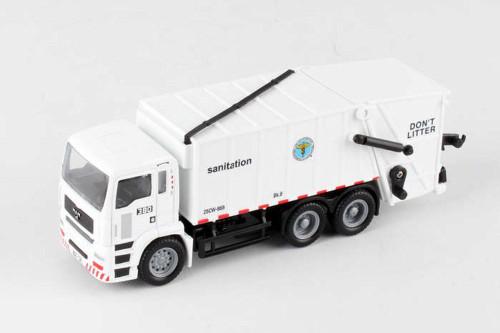 New York City Sanitation Dept Garbage Truck, White - Daron RT8957 - Diecast Model Toy Car