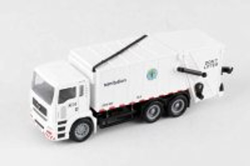 New York City Sanitation Dept Garbage Truck, White - Daron RT8957 - Diecast Model Toy Car
