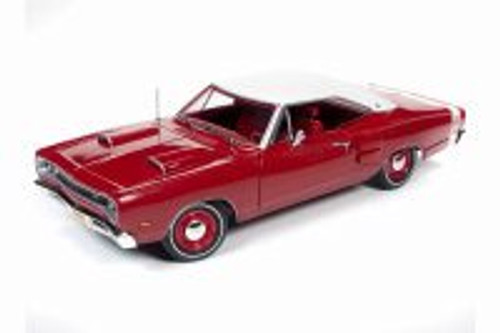 1969 Dodge Coronet Super Bee Hardtop, Red with White Roof - Auto World AMM1191 - 1/18 scale Diecast Model Toy Car