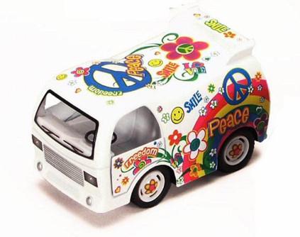 Peace Decal Dream Car, White - Kinsmart 4102 - Diecast Model Toy Car