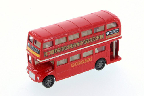 London Routemaster Double Decker Bus, Red - Motor Max 76002D - Diecast (No Box) (Brand New, but NOT IN BOX)