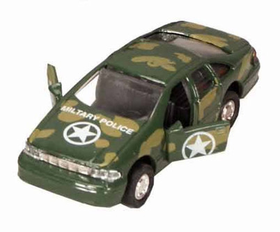 Military Team - Police Car, Camouflage, Camouflage colors - Showcasts 9761MD - 4 Inch Scale Diecast Model Replica (Brand New, but NOT IN BOX)