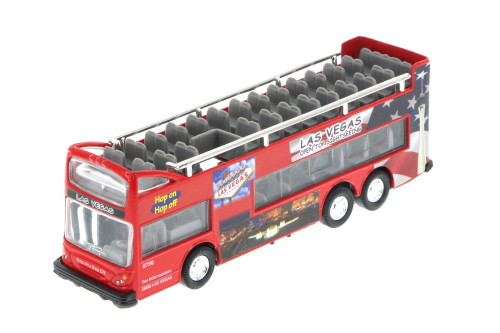 "Las Vegas 6"" Double Decker Sightseeing Bus Open Top, Red - 2168DLV - Collectible Model Toy Car (Brand New, but NOT IN BOX)"