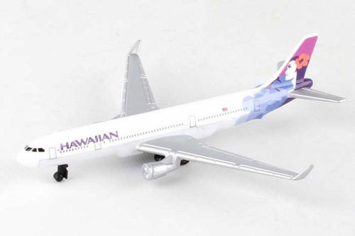 Hawaiian Airlines Single Plane, White - Daron RT2434 - Diecast Model Airplane Replica