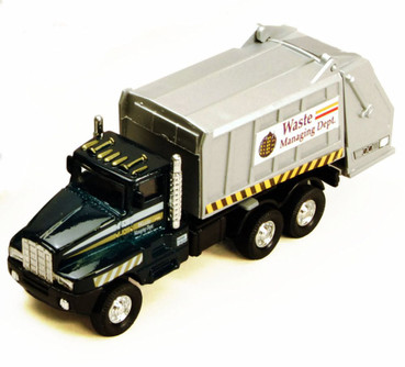 Garbage Truck, Metallic Green - Showcasts 9911DG - 6 Inch Scale Diecast Model Replica (Brand New, but NOT IN BOX)