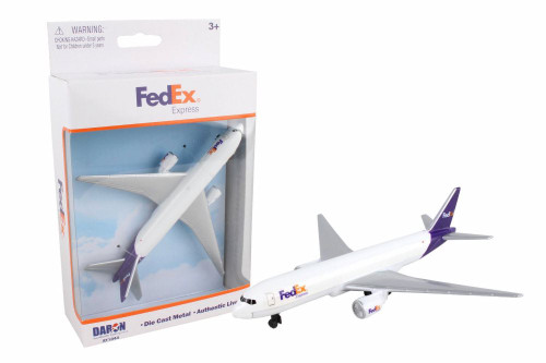 Fedex Single Plane, White with Purple - Daron RT1044 - Diecast Model Toy Car