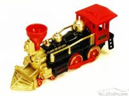 Classic Steam Locomotive Train, Black with Red & Gold - Showcasts 9935D - 7 Inch Scale Diecast Model Replica (Brand New, but NOT IN BOX)