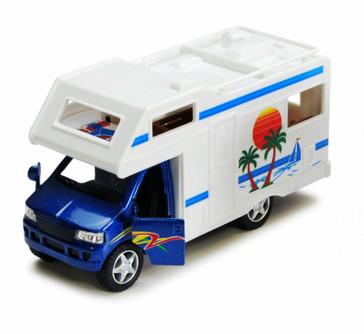 "Camper Van, Blue - Kinsmart 5252D - 5"" Diecast Model Toy Car (Brand New, but NOT IN BOX)"