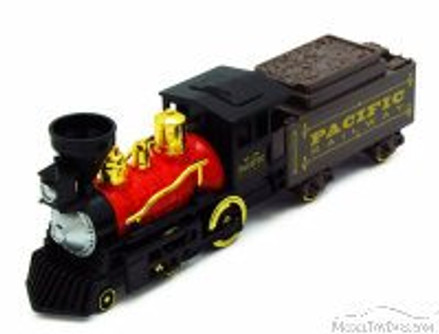 Classic Steam Engine Train, Black & Red - Showcasts 9932A - 9.75 Inch Scale Diecast Model Replica