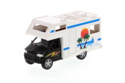 "Camper Van, Black - Kinsmart 5252D - 5"" Diecast Model Toy Car (Brand New, but NOT IN BOX)"