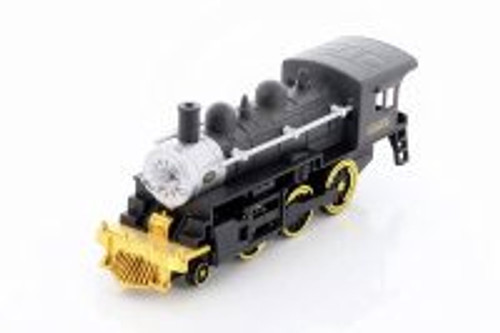 Classic Steam Engine Train, Black with Gold and Silver - 9937BD - Diecast Model Toy Car
