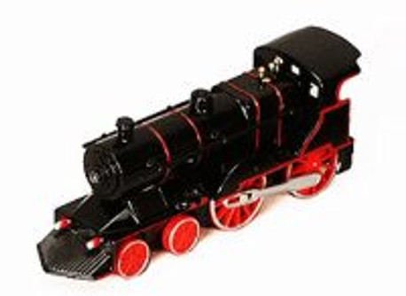 Classic Pullback Train w/ Lights and Sounds, Black - 675SL - Model Toy Car